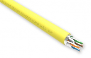 QED CAT6 PVC FTP Data Cable Yellow